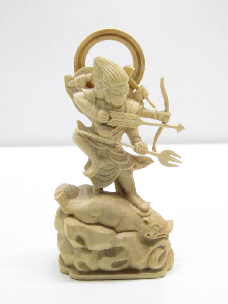 ~木彫り 仏像 摩利支天~仕様:無垢 / 素材:拓植