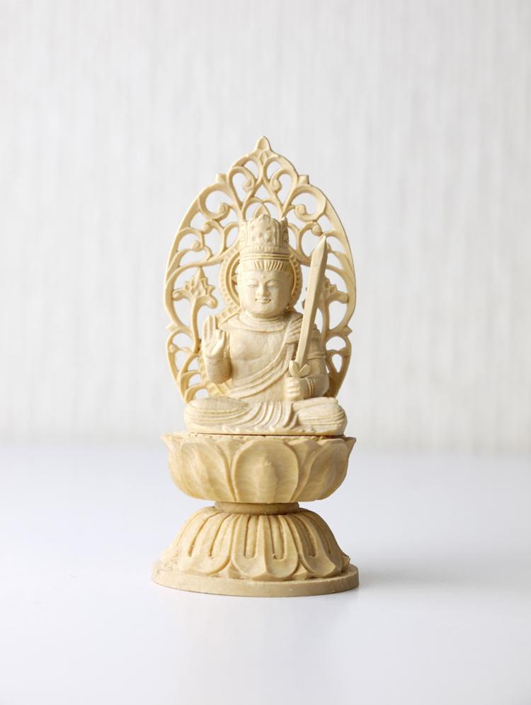 ~木彫り 仏像 虚空蔵菩薩~仕様:無垢 / 素材:柘植(置物)