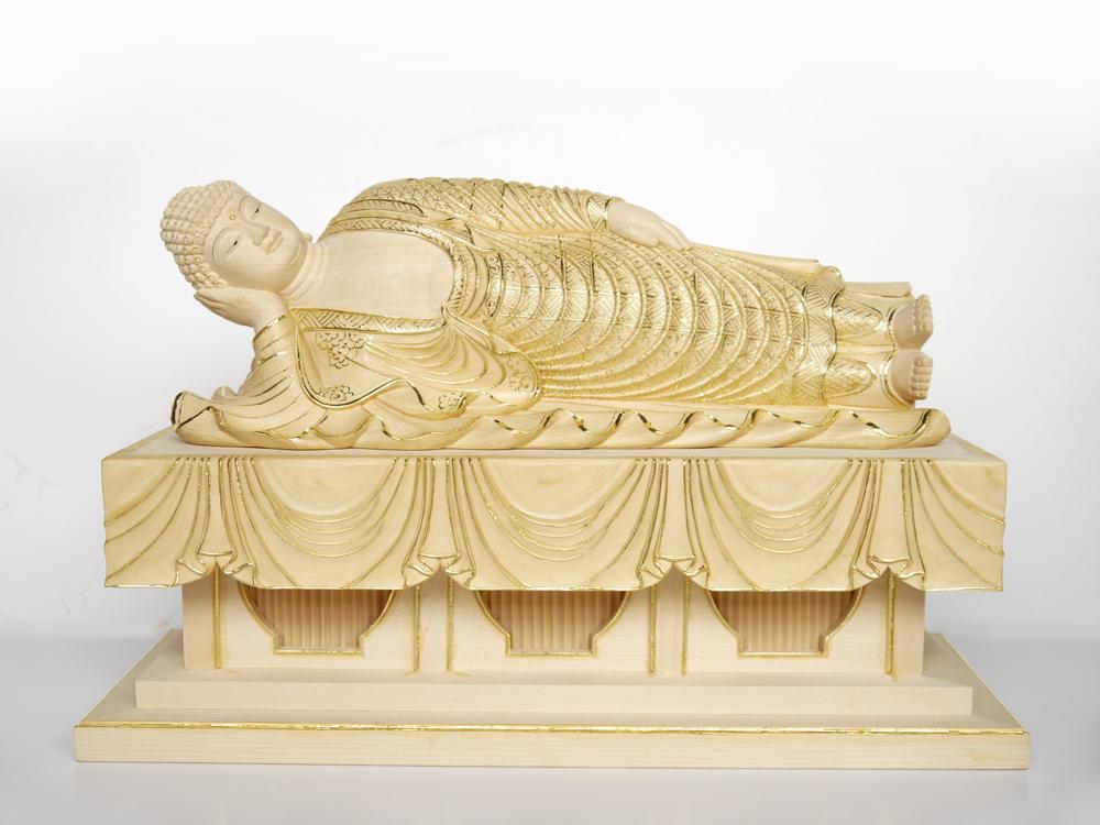 ~木彫り 仏像 釈迦如来~仕様:無垢 / 素材:桧