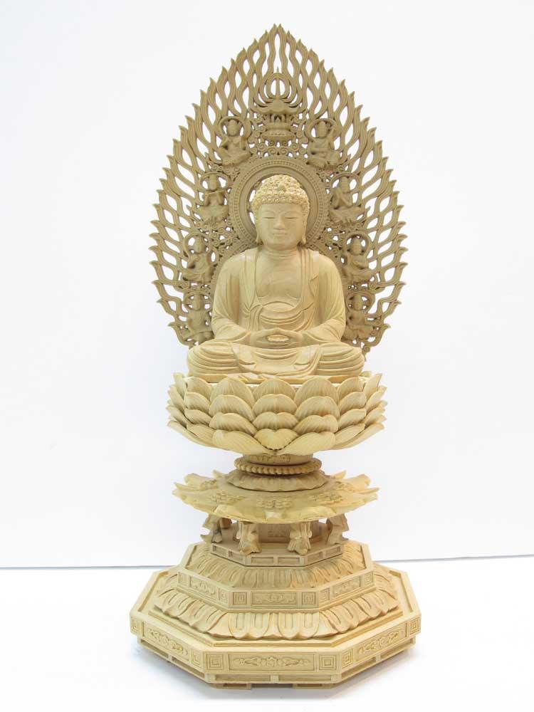 ~木彫り 仏像 釈迦如来~仕様:無垢 / 素材:柘植