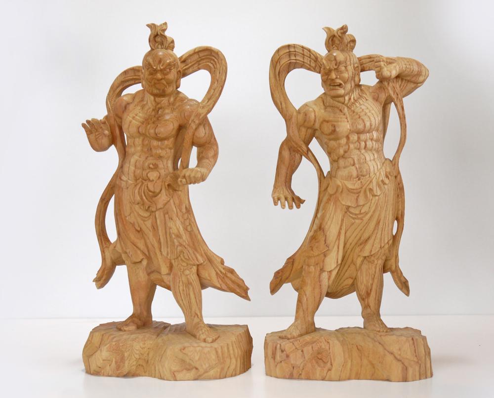 """""""健康を祈る神・健脚の神として"""" ~木彫り 仏像 仁王像(金剛力士)~一刀彫 / 素材:欅"""