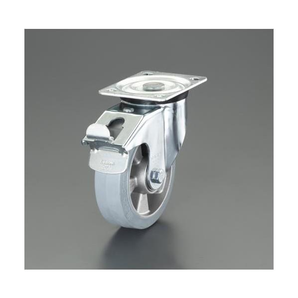 エスコ esco 125mm キャスター 自在金具 今だけスーパーセール限定 帯電防止 EA986HE-22 1個 ブレーキ付 在庫処分