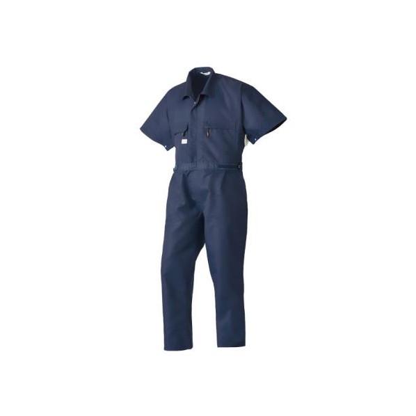 エスコ(esco) [L] 空調継ぎ作業服(本体のみ/半袖ネイビー) EA996AM-2 1個