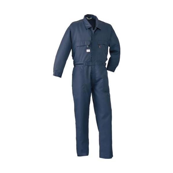 エスコ(esco) [L] 空調継ぎ作業服(本体のみ/長袖ネイビー) EA996AM-22 1個