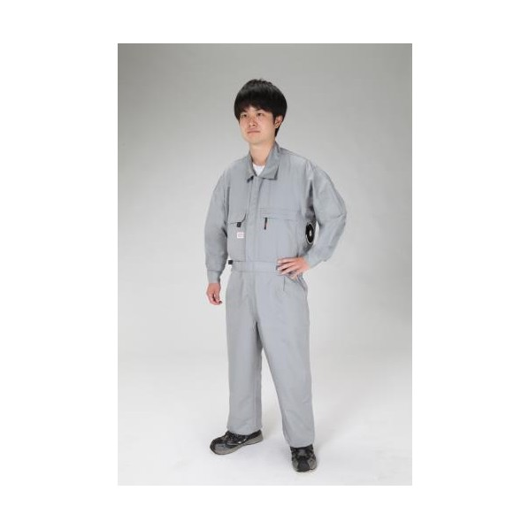エスコ(esco) [LL] 空調継ぎ作業服(送風ファン付/長袖グレー EA996AM-133 1セット