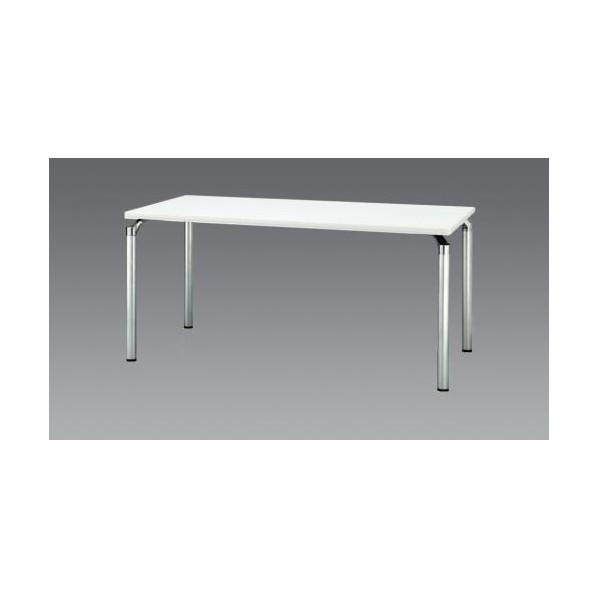 エスコ(esco) 1500x 750x700mm ミーティングテーブル(ホワイト) EA954HC-602 1個