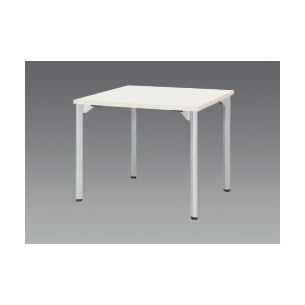 エスコ(esco) 750x 750x720mm ミーティングテーブル(ホワイト) EA954HC-631 1個