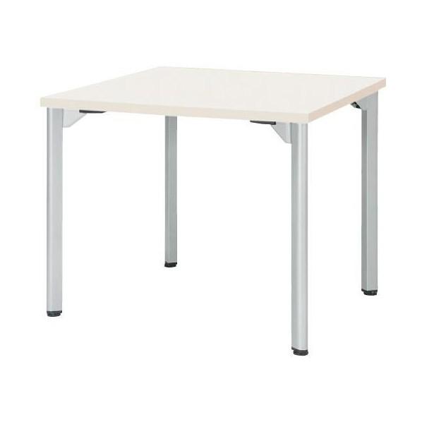 エスコ(esco) 900x 900x720mm ミーティングテーブル(ホワイト) EA954HC-632 1個