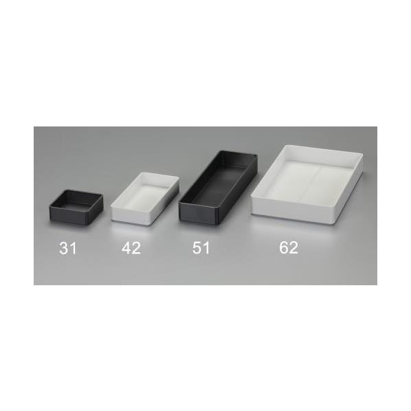 激安通販専門店 エスコ 物品 esco 76x152x27mm デスク引き出し用トレー 黒 EA954T-41 1個
