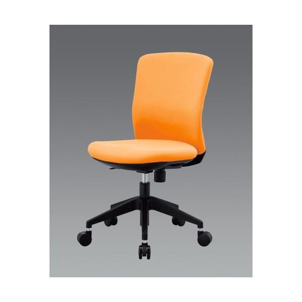 エスコ(esco) ビジネスチェアー(オレンジ) EA956XA-233 1個