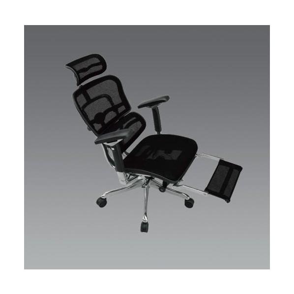 エスコ(esco) ビジネスチェアー(ブラック) EA956XA-291 1個
