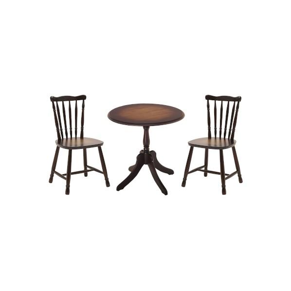 Roanne ロアンヌ アンティークテーブル&チェア3点セット テーブル:幅700×奥行700×高さ700mm、チェア:幅445×奥行440×高さ800(座面高400)mm 82-631 1セット
