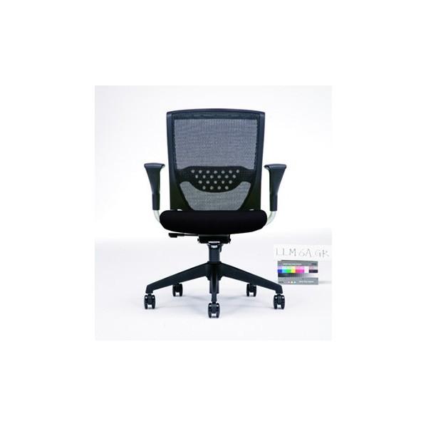 株式会社ノーリツイス オフィスチェアー ブラック ブラック LLM-6ABS 1台