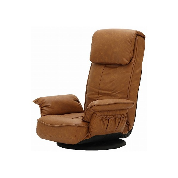 ALBA アルバ 肘付き回転座椅子 キャメル 幅710×奥行660~1290×高さ350~835(座面高215)mm 83-960 1台