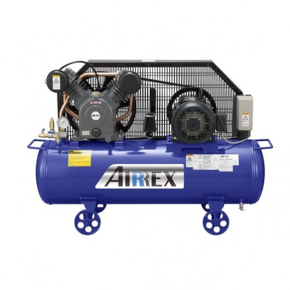 AIRREX 3馬力オイル式コンプレッサ 三相200V 60Hz 幅1150×奥行425×高さ770mm HXT22EG-10M6 1台