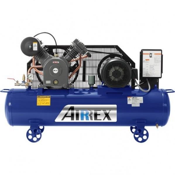 AIRREX 5馬力オイル式コンプレッサ 三相200V 50Hz 幅1400×奥行430×高さ840mm HXT37EG-10M5 1台