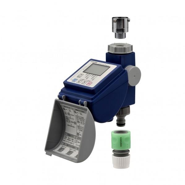 GAONA ガオナ 潅水コンピューター (散水タイマー 自動水やり 曜日設定 簡単操作) GA-QE001 1個