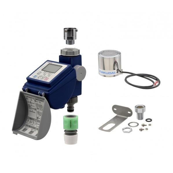 GAONA ガオナ 潅水コンピューター 雨センサー付き (散水タイマー 曜日設定 簡単操作 節水) GA-QE002 1個