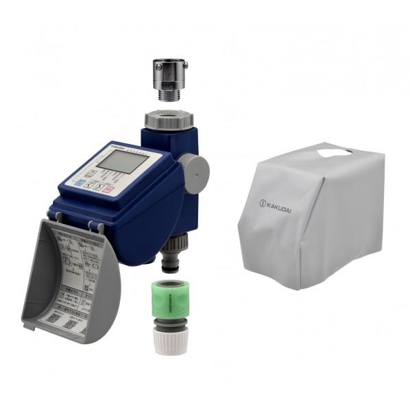 GAONA ガオナ 潅水コンピューター 保護カバー付き (散水タイマー 曜日設定 簡単操作) GA-QE004 1個