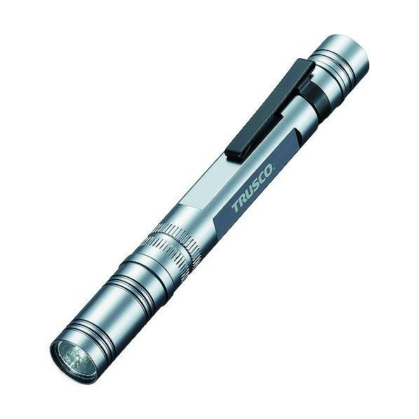 トラスコ [正規販売店] TRUSCO アルミLEDペンライト1球110ルーメン 205 x 115 1 宅配便送料無料 mm TLP-85-SV 25