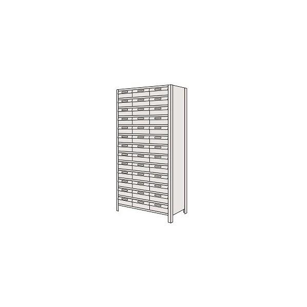 サカエ 物品棚LEK型樹脂ボックス(100kg/段・高さ2100mm・13段タイプ) LEK211354T 1台
