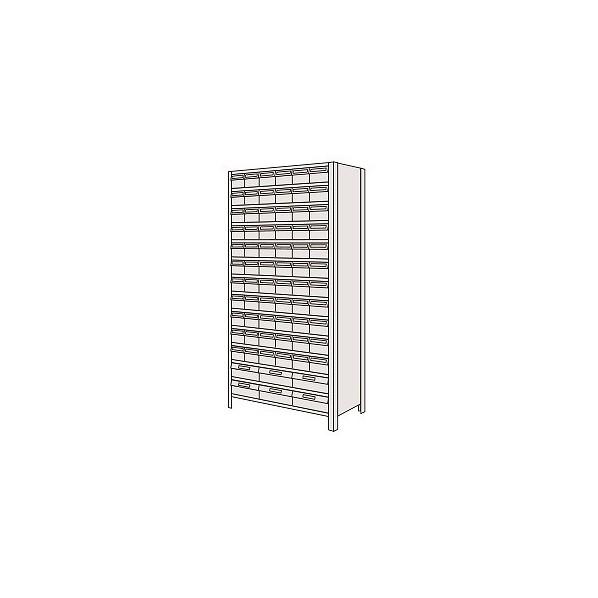 サカエ 物品棚LEK型樹脂ボックス(100kg/段・高さ2100mm・14段タイプ) LEK212472T 1台
