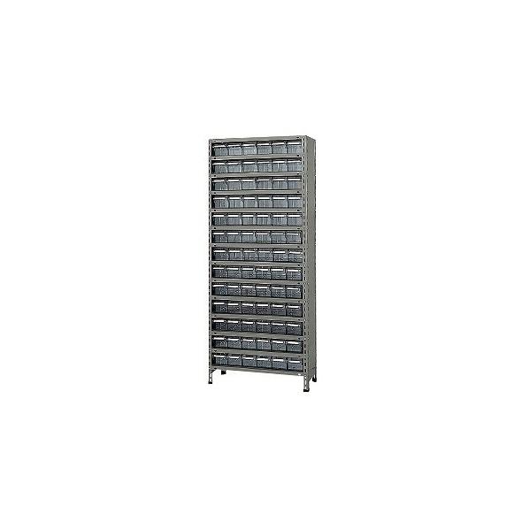 サカエ 物品棚LEK型樹脂ボックス(100kg/段・高さ2100mm・14段タイプ) LEK212478T 1台