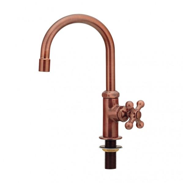 カクダイ(KAKUDAI) 立形スワン水栓 ブロンズ 700-769-BP 1個