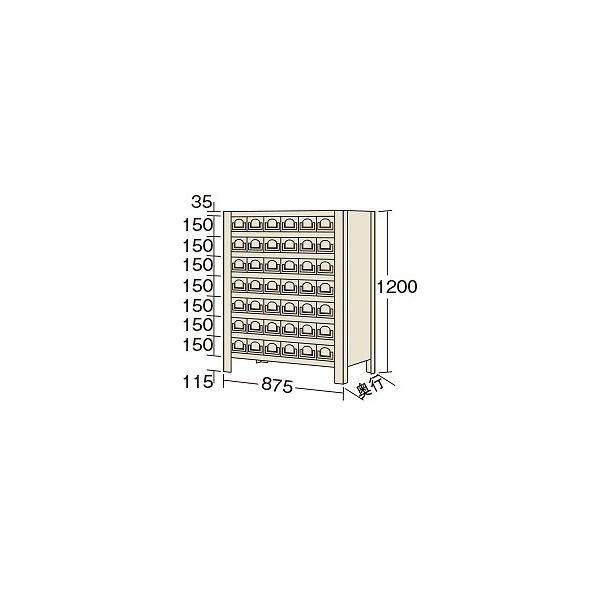 サカエ 物品棚KW型(100kg/段・高さ1200mm・8段タイプ) KW812842 1台