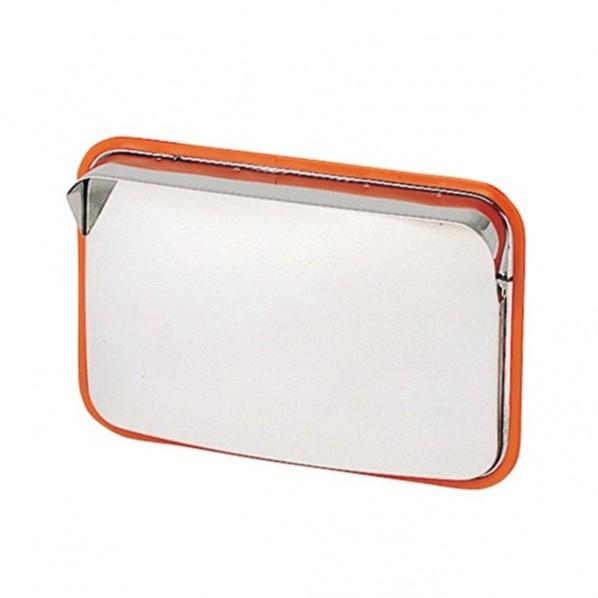 信栄物産 100%品質保証! 贈物 ステンレスミラー 角型 S-5 1個 外寸:375×485mm鏡面寸法:350×450mm
