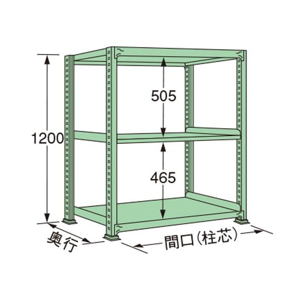 扶桑金属工業 中量ラック 1790×600×1200mm 初回限定 保障 グリーン MS1218L03T 1点