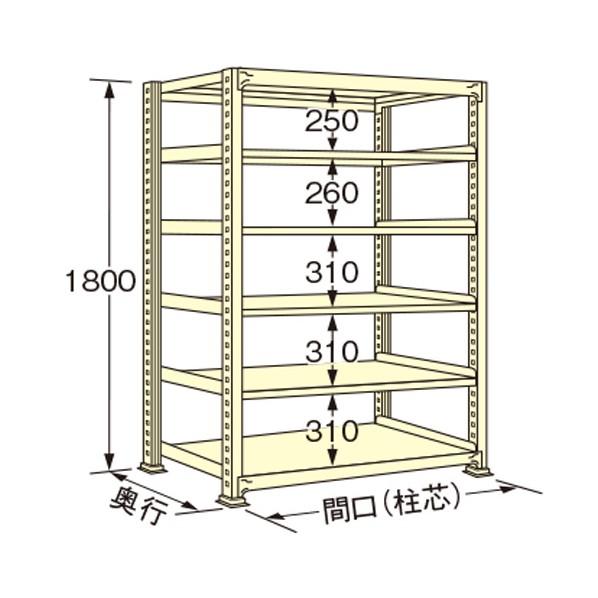 扶桑金属工業 中量ラック 本日限定 1190×750×1800mm 専門店 1点 WL1812J06T アイボリー