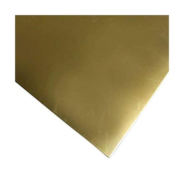 本日限定 TETSUKO 真鍮板 黄銅3種 C2801P B08BNRWZX5 t1.0mm 2枚 品質検査済 W100×L1200mm