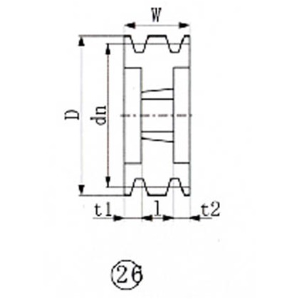 EVN ブッシングプーリー SPC 200mm 溝数4  SPC200-4