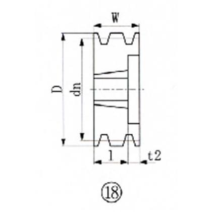 EVN ブッシングプーリー SPB 230mm 溝数5  SPB230-5