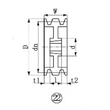 EVN ブッシングプーリー SPC 280mm 溝数4  SPC280-4