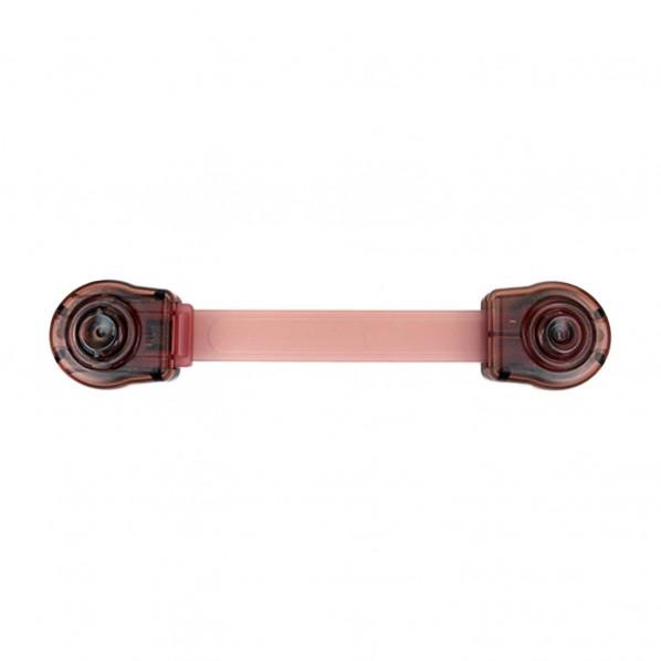和気産業 開き戸・引出しロックII ワンプッシュタイプ クリアブラウン TSL-018 1個