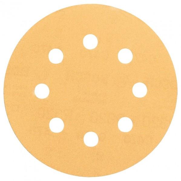 ボッシュ お値打ち価格で サンディングペーパー125mmゴールド#400 125x125x1mm 5点 無料 2608605075