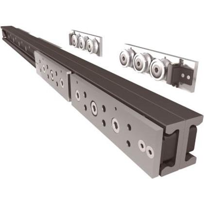 スガツネ工業 重量用リニアローラーレールTLQ43-1250190027809 TLQ43-1250