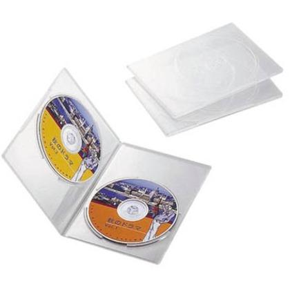 返品不可 エレコム DVDスリムトールケース2枚収納 3枚セット クリア ※ラッピング ※ CCD-DVDS04CR