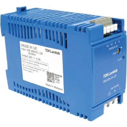 TDKラムダ DINレール取付専用ユニット型電源DRJ100Wヨーロッパ端子 DRJ100-24-1E