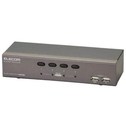 エレコム USB対応パソコン切替器Dーsub対応/4台切替  KVM-NVU4