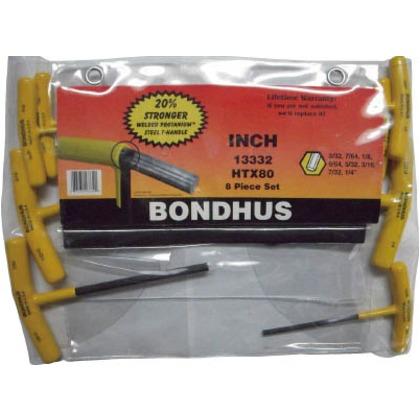 ボンダス Tハンドルセットインチ8本組 HTX80