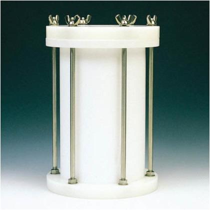 フロンケミカル フッ素樹脂円筒型中圧用タンク15000cc NR0117-006