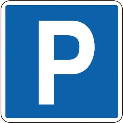 緑十字 路面-403 路面用標識P(駐車可・駐車場)600×600mm軟質塩ビテープ付 101111