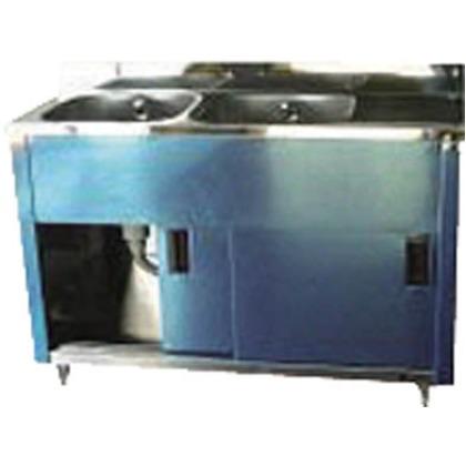 アズマ 二槽水切キャビネットシンク左水槽1200×450×800 470 x 1220 x 900 mm APM2-1200K-L