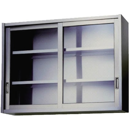 アズマ ステンレス吊戸棚(ガラス戸)1500×300×750  AS-1500GS-750
