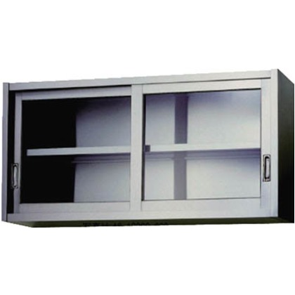 アズマ ステンレス吊戸棚(ガラス戸)750×350×450  AS-750G-450
