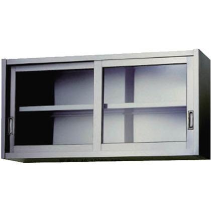 アズマ ステンレス吊戸棚(ガラス戸)900×300×450  AS-900GS-450