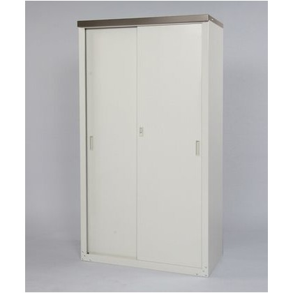 グリーンライフ 家庭用収納庫(ハーフ棚仕様) 天板:チタングレー 本体:ライトグレー W890×D470×H1620mm HS-162HT